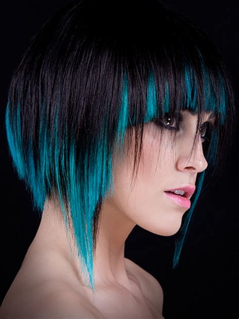 Cool Hair Color Shades by Black Hair With Blue Highlights More About Hairstyles