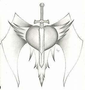 Pencil Drawings Of Hearts With Banners And Wings How To ...