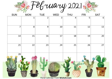 Download february 2021 calendar as html, excel xlsx, word docx, pdf or picture. Floral February 2021 Calendar Printable - Free Printable ...