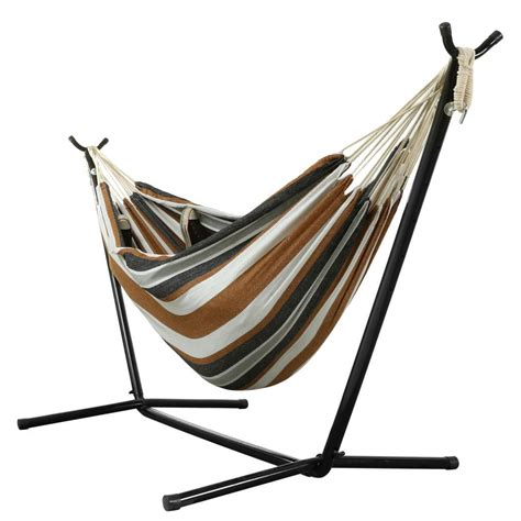 Travel Hammock With Stand by Ancheer Folding 2 Person Steel Hammock Swing Stand