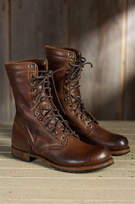 Men Walk Over Ian Fold Leather Jump Boots