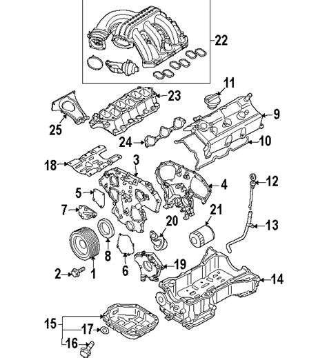 Frontier V6 Engine Diagram by Parts 174 Nissan Cover Assy Vtc Partnumber 130418j10a