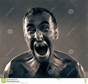 Screaming Dirty Man Royalty Free Stock Photo - Image: 11715285