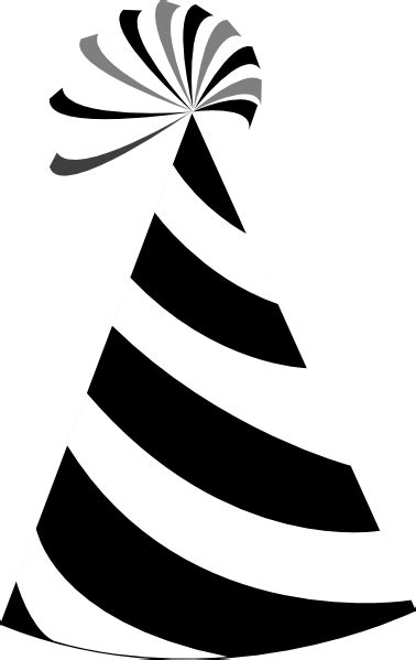 birthday hat clipart black and white black and white hat clip at clker vector