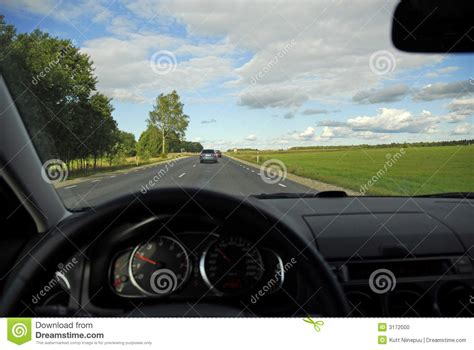 Car Image In Car View Of Freeway Stock Photo Image Of Highway