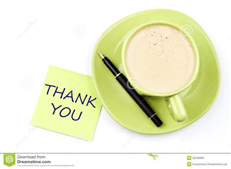 Thank You Note And Coffee Stock Photo. Image Of Gratitude Cuisinart Coffee Maker On Off Switch Not Working Demand Flashing Clean Light Instructions 14 Cup Cups Paper Wholesale Grind Control & Kitchen Is Beeping