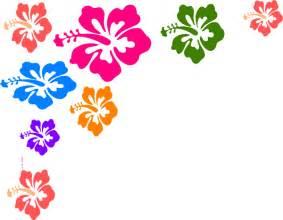 Hawaiian Flower Clip Art Borders Free