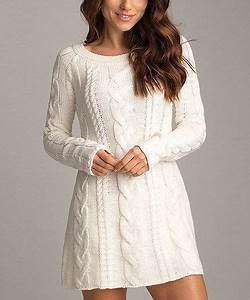 White Knitwear Dresses - Inspiration by Color