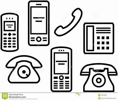 Mobile Phones Telephones Phone Carpinteira Receiver Icon