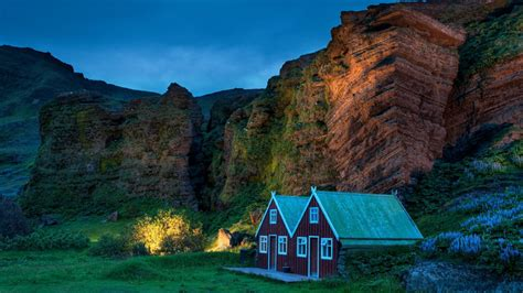 landscape, Nature, Cabin, Barns Wallpapers HD / Desktop ...