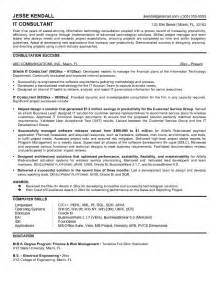 independent technology consultant resume resume sle best management consultant resume sle