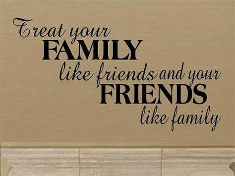 wall decal quote treat  family  friends