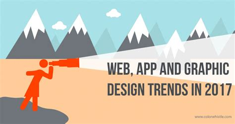 graphic design trends in 2017 web mobile app and ui trends