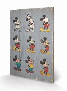 Bild Auf Holz : bild auf holz micky maus mickey mouse evolution bei europosters ~ Frokenaadalensverden.com Haus und Dekorationen