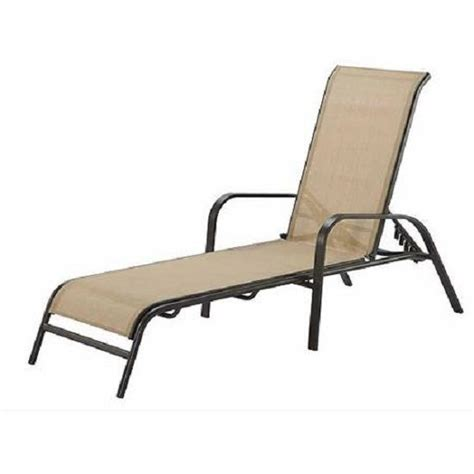 outdoor patio chaise lounge relax chair adjustable back