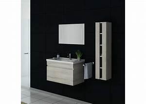 Meuble Simple Vasque : meuble de salle de bain simple vasque 80 cm ensemble meuble et vasque dis800asc distribain ~ Teatrodelosmanantiales.com Idées de Décoration