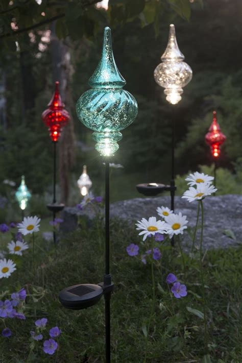 solar garden lights ideas  pinterest garden