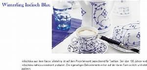 Porzellan Geschirr Hersteller : winterling porzellan indisch blau porzellanholsten ~ Michelbontemps.com Haus und Dekorationen