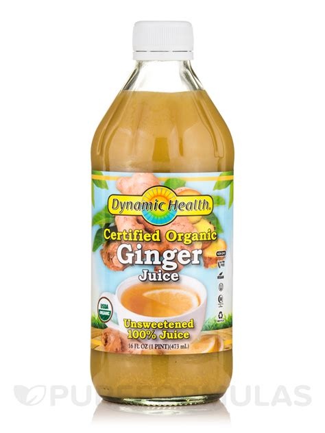 ginger juice organic oz fl certified ml dynamic health herbal