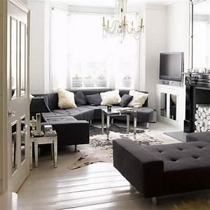 Elegant monochrome living room