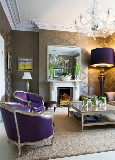 purple chairs eclectic living room kevin interiors