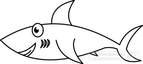 Animals Clipart Sharkblackwhiteoutline  Classroom Clipart