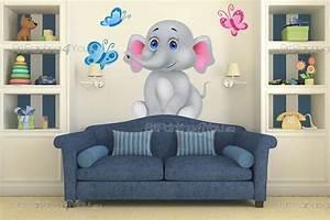Wandtattoo Elefant Kinderzimmer : wandtattoo wandsticker kinderzimmer elefant 1995de ~ Sanjose-hotels-ca.com Haus und Dekorationen