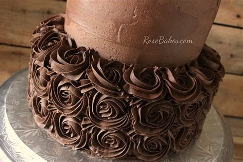 chocolate chocolate  birthday cake rose bakes