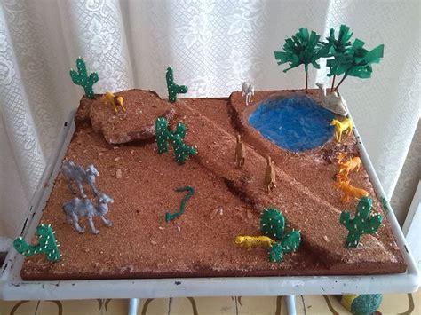 pin  anyesca serj  maqueta ecosistema desierto pinterest