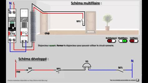interphone bpt schema une porte d entree 3 poste pdf circuit sonnerie sonnette youtube