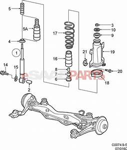 12765951  Saab Rear Shock Absorber