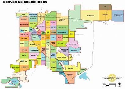 Denver Map Usa Neighbourhood