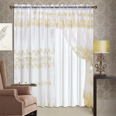 luxury lined curtain drapes set sheer window treatment