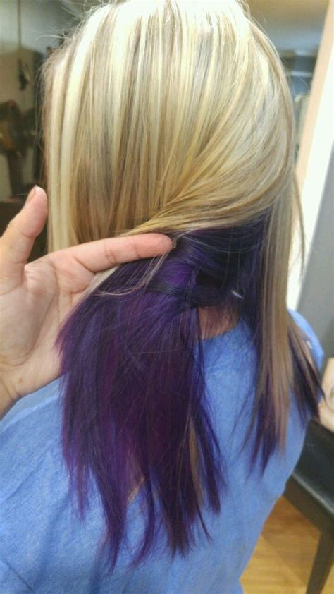 Blonde With Lowlights And Purple Underneath Love Love