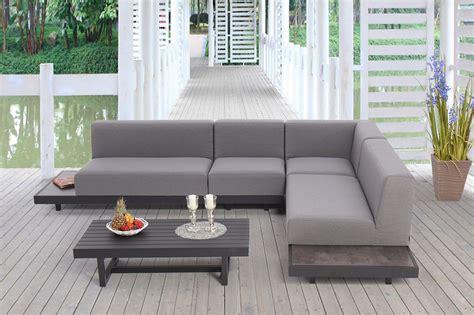 paletten loungem 246 bel sofas kaufen bei supersack lounge polster outdoor outdoor lounge sofa mit tisch hocker und polster faro grau porta
