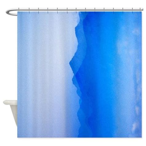 abstract watercolor texture ombre shower curtain by v ink