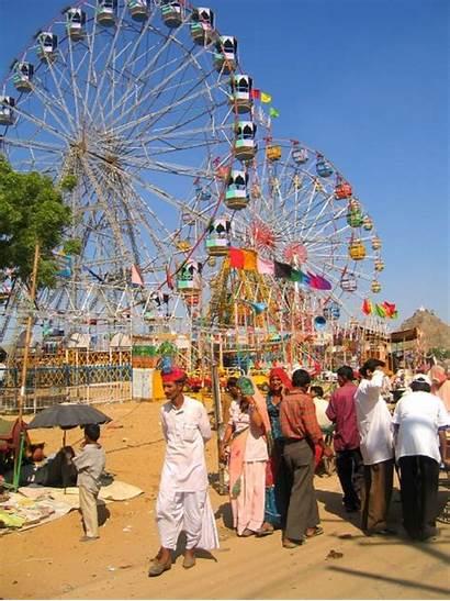Pushkar Fair Rajasthan Camel Giant Wheels India