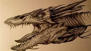 Smaug Amazing Drawing, EPIC FanArt Speed Drawing - YouTube