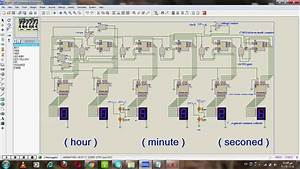 Digital Clock Proteus Simulation