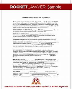 independent contractor agreement form template with sample With 1099 contractor agreement template