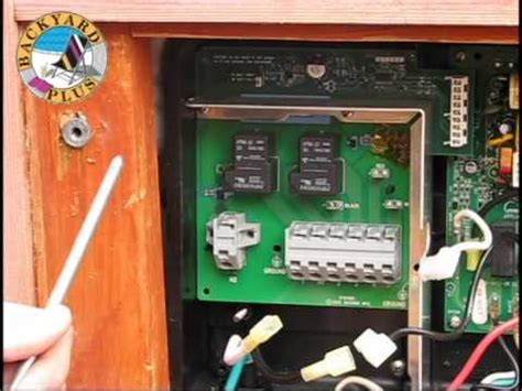 How Replace Hot Spring Spa Heater Relay Board Youtube