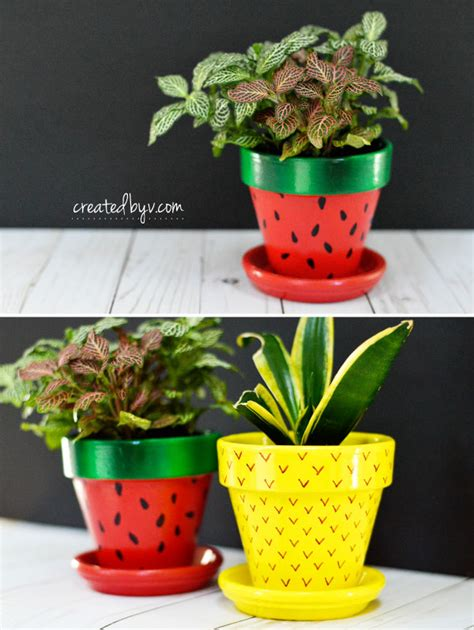 Fruitinspired Terra Cotta Pots  Created By V