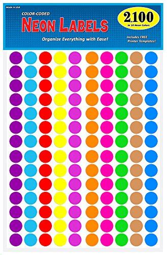 colored circle stickers pack of 2100 3 4 quot color coding circle dot labels 10