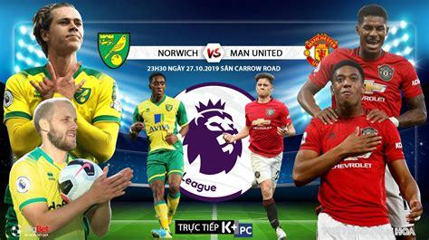Tỷ số bóng đá mỹ. Trực tiếp bóng đá. Norwich đấu với MU. K+. K+PM. K+PC ...