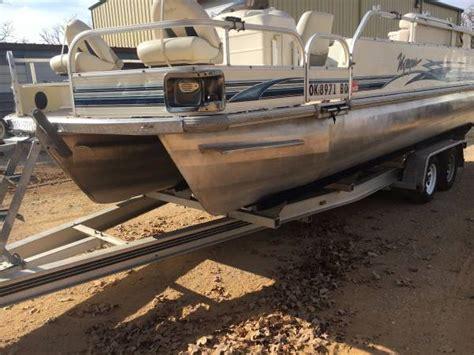 Used Pontoon Boats Tulsa Ok by 2004 Voyager Pontoon Boat For Sale
