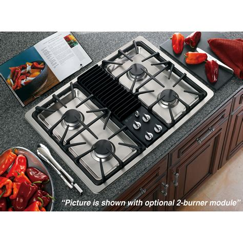 ge profile series pgpsenss  built  modular gas cooktop stainless steel