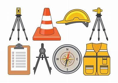 Surveyor Equipment Vector Land Tools Clipart Surveyors