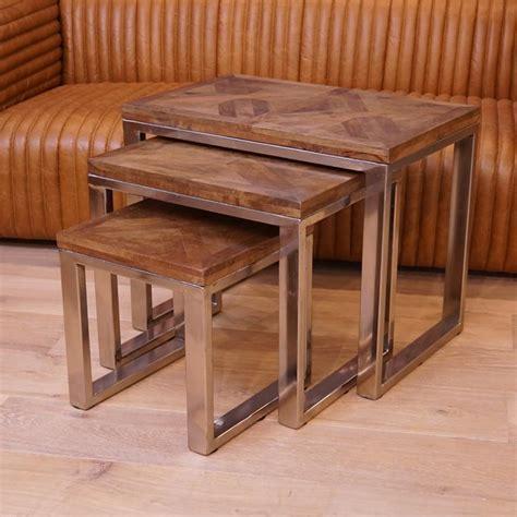 3er Set Tische by 3er Tisch Set Wohnzimmertisch Beistelltisch Holz Shabby