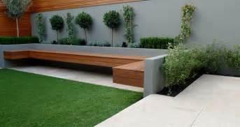 Curved Wooden Garden Bench by Paisajismo Contempor 225 Neo 75 Ideas Para Dise 241 Ar Su Jard 237 N