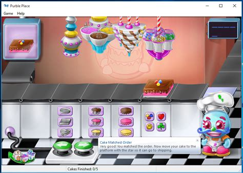 play cake baking game comfy cakes  purble place